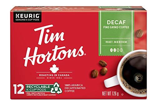 Tim Hortons Decaf Single Serve K-Cups, 12 Count