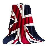 Plaid couverture couvre-lit Lit Plaid Flanelle luxe doux Blankets avec imprimé drapeau anglais pour femme homme enfants Chambre Canapé voiture dans toutes les saisons 200x 150cm Englische Flagge
