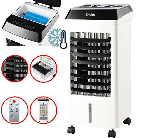 DMS All in One Mobile Klimaanlage Mit Fernbedienung| Klimagerät mit Multifunktion | Ventilator Luftkühler | Luftbefeuchter | Antibakterieller Luftreiniger | Kühlakkus | 3 Programme und 3 Power Stufen