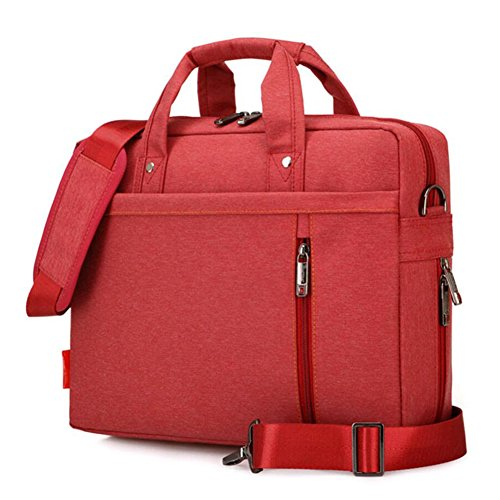 "SNOW WI 15.6"" Expandable Laptop Shoulder Bag for MacBook,Asus,Dell(Red)"