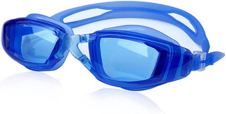 LE Big Box Goggles HD Anti Fog Men and Women Plating Flat Swimming Glasses