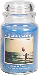 Village Candle Summer Breeze 26 oz Glass Jar Scented Candle, Large