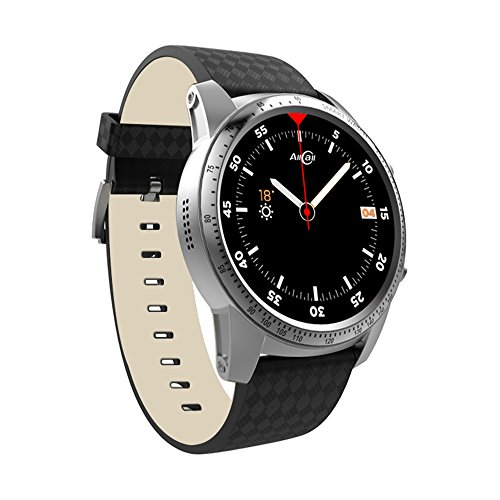 """AllCall Bluetooth Smart Watch Phone Men Smart Watches Big momery with 1.39"""" AMOLED Display/GPS Built-in/Wi-Fi, Phone Call SmartWatch with Heart Rate Monitor, Compatible with iOS Android for Men"""