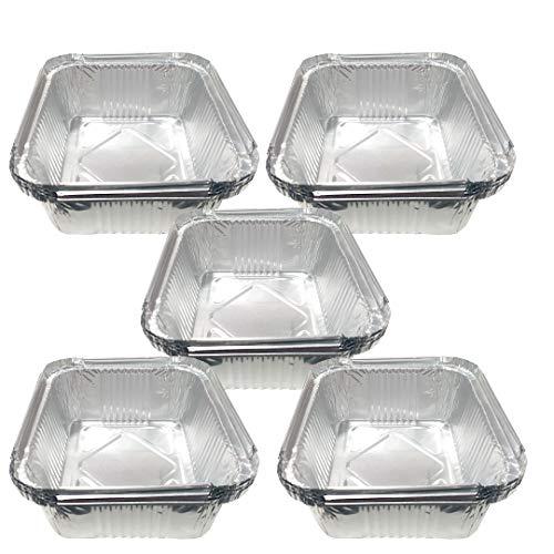 EUROXANTY Bandeja de Aluminio   Con tapa   Bandejas para platos   Recipientes Desechables   Servir comida   Resistencia al calor   5 raciones   20 unidades