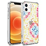 UZEUZA Funda compatible con iPhone 12 Mini de TPU suave transparente a prueba de golpes con cuatro esquinas, diseño de Victoria Secret