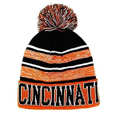 Semper Fi Cincinnati Blended Colors Men's Winter Knit Pom Beanie Hat