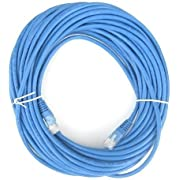 THYBDB Cat5e Ethernet Patch Cable, Snagless/Molded Boot 50 Feet Blue