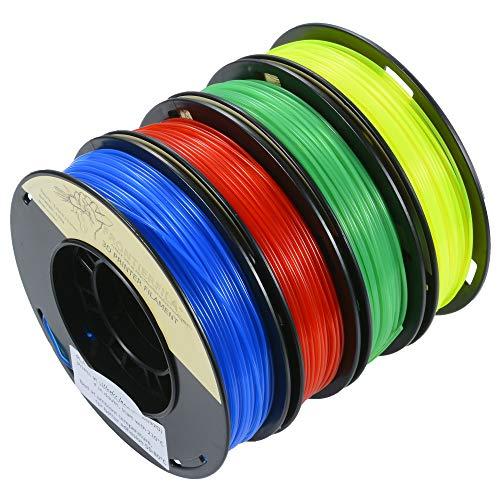 Filamento stampante 3D 4x250 g FrontierFila set PLA colori traslucidi di 1,75 mm