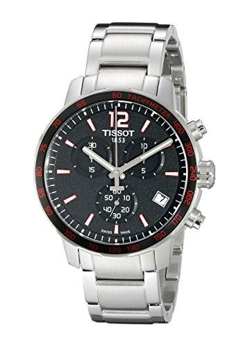 Tissot - orologio cronometro, con quadrante nero analogico/digitale.