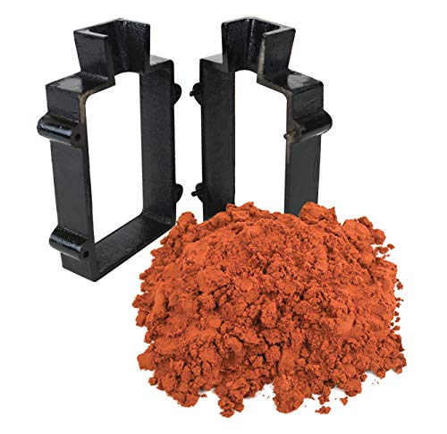 Sand Casting Set with 10 Lbs Petrobond Quick Cast Sand Casting Clay and Cast Iron Mold Flask Frame Melt Pour Metals