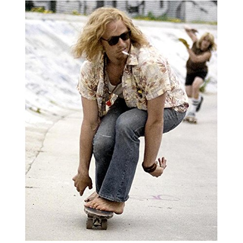Heath Ledger Riding Skateboard and Smoking 8 X 10 Inch Photo