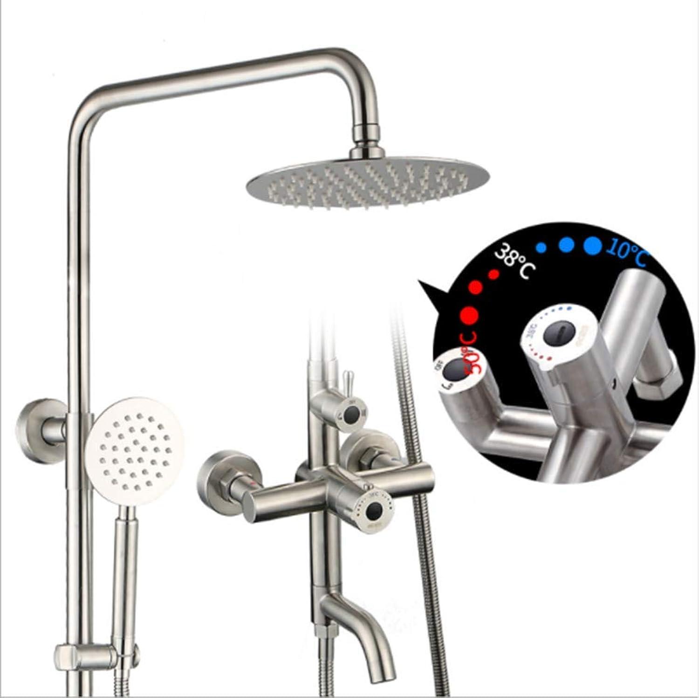 Bad Duschsystem Wandbrause Dusche Handbrause Ein Knopf Drei Kontrolle Edelstahl Chrom Dusche Regendusche Set