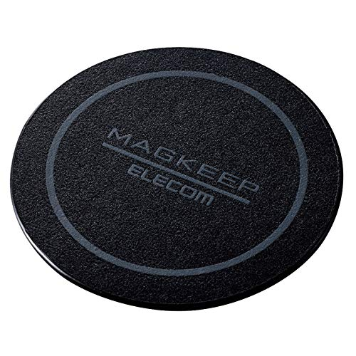 エレコム マグネットステッカー Magkeep 【 iPhone12 / 12 Pro シリーズ対応 】 1枚入り ブラック AMS-DSSTBK