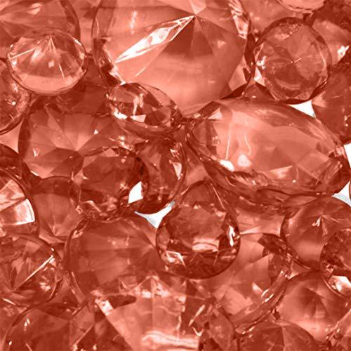 Koyal Wholesale Centerpiece Vase Filler Acrylic Diamonds, Coral