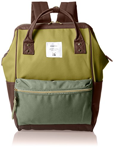 Anello Official Backpack with Metal Clasp AT-B0193A [Khaki Multi]
