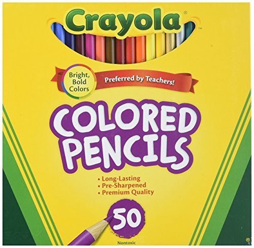 Crayola 50ct Long Colored Pencils (68-4050) 6 Pack