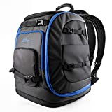OutdoorMaster Boot Bag, 65L Waterproof Ski Snowboard Boots Air Cushion Shoulder Pad Skiing Gear Bag Travel Backpack for Ski Helmets, Goggles&Accessories Men&Women-Blue
