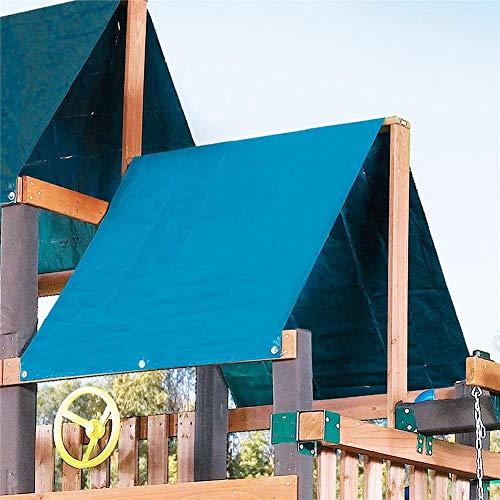 Opfury Patio - Tettuccio parasole manuale da giardino a baldacchino, per esterni, ombra per bambini, copertura impermeabile Blu