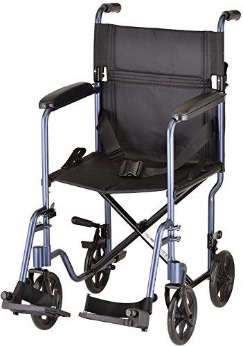 "NOVA Medical Products 19"" Lightweight Transport/Wheelchair, Blue"