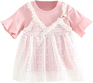 Fashion Lovely Child Kids Baby Girls Princess Summer Short Sleeve Casual Dress Outfits Gifts