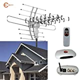 Esky HDTV Amplified Antenna 2 TV Support Outdoor TV Antenna with 150 Mile Range Remote Controller
