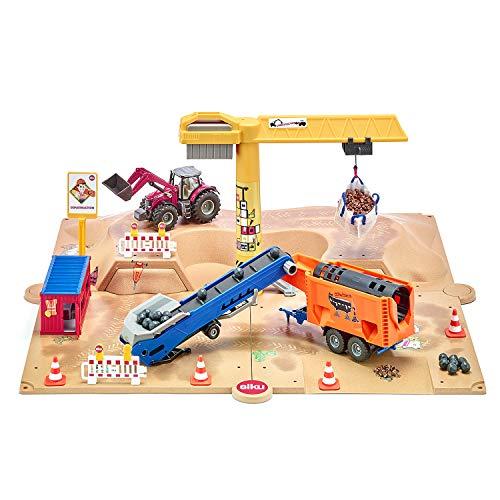 Siku 5701 Baugrube, Inkl. umfangreiches Zubehör, Metall/Kunststoff, Viele Spielfunktionen, Bunt