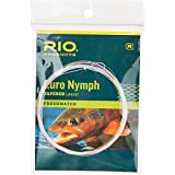 RIO Products Leaders Euro Nymph Vorfach mit Tippet Ring, transparent