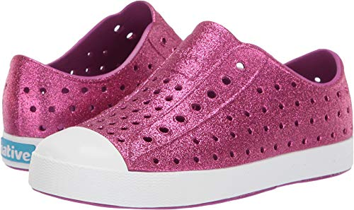Native Kids Shoes Girl's Jefferson Bling Glitter (Little Kid) Origami Purple Bling/Shell White 12 Little Kid M