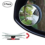 Ampper Blind Spot Mirror, 2' Round HD Glass Convex Rear View Mirror, Pack of 2