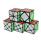 Wings of wind - Cubo Mágico Irregular de Velocidad MoYu YongJun Fisher, Rueda de Viento, Kingkong, Skewb, SQ Cube Puzzle (Paquete de 5)