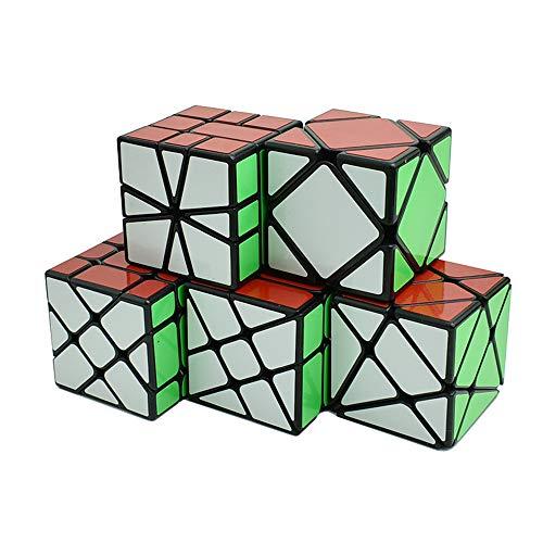 風の翼 - スピード不規則マジックキューブ YongJun Fisher、ウィンドホイール、Kingkong Cube Puzzle (5点セット) 6歳以上に適しています