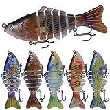 Señuelos de pesca cebos Señuelos de pesca señuelos de la pesca Tackle de pesca en los cebos de pesca 3d ganchos de pesca en forma de vida, como hundimiento artificial de la vida, tackle dura 2 PCS par
