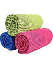 Gugule Cooling Towel,Microfiber Towel for Instant Cooling Relief,Cold Towel Travel Towel For Yoga,Sport,Gym,Workout, Fitness,Running,Swimming, Camping,Golf, Football,Outdoor Sports (3 Pack)