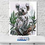 KHGAHD Faultier Koala Waschbär Tier Ratte Australien Malen Nach Zahlen Kunst Malen Nach Zahlen Red Tänzer Dekorative Gemälde Without Frame -40x50cm