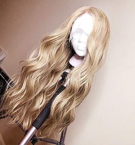 LEMEIZ Blonde Perücke, kleberlose blonde Perücken für Frauen, goldene blonde Perücke, lose lockige Perücken, synthetische lange blonde Perücke Haarperücke für Cosplay, Wigs 24 Zoll LEMEIZ-065