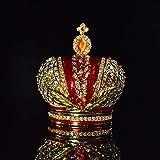 weichuang Caja de joyería Europa decoración del Diamante del Metal de artesanía for el hogar Joyero (Color : A)