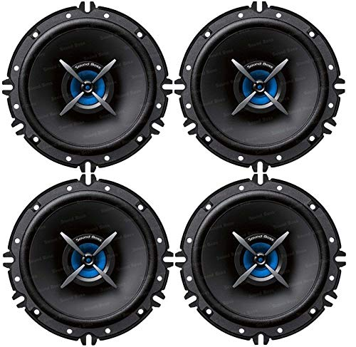 """Sound Boss Door 6"""" INCH 2Way Performance Auditor 280W MAX B0162(Pack of 4) Coaxial Car Speaker (280 W)"""