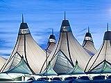 Aeropuerto Internacional de Denver con techo de montaña nevada Diy 5D diamante pintura decoración de lapared del hogar decoración de pared decristal punto decruz 40x50cm