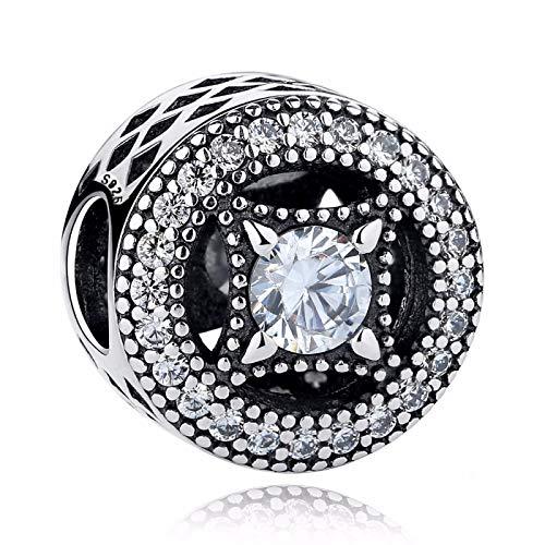 LILIANG Charm Jewelry Classic 100% Plata De Ley 925 Vintage Allure, Encantos Claros Que Se Ajustan A La Pulsera De Las Mujeres Fabricación De Joyas De Moda