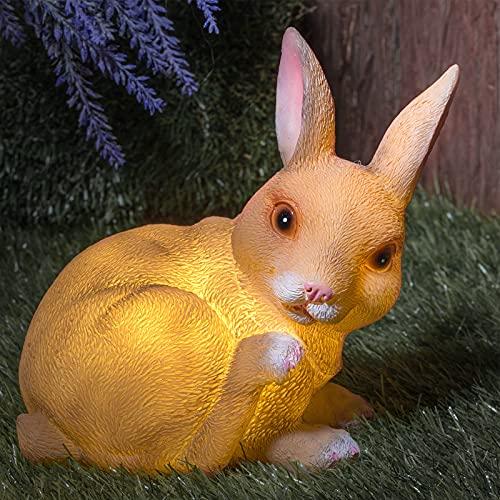 GloBrite Garden Solar Resin Animal Ornament Waterproof Resin Figurines...