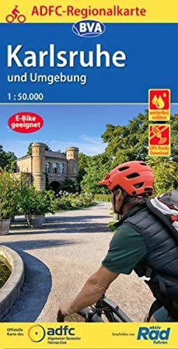 ADFC-Regionalkarte Karlsruhe und Umgebung,1:50.000, reiß- und wetterfest, GPS-Tracks Download (ADFC-Regionalkarte 1:50000)