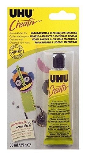 UHU 6er Pack 47195 - Creativ - Spezialkleber für Moosgummi und Flexible Materialien Tube, 33 ml (6)