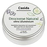 Casida - Crema desodorante sin aluminio natural – crema desodorante vegetal con aceites naturales - sin aluminio – protección segura contra el olor a sudor - la calidad de las farmacias - 50ml