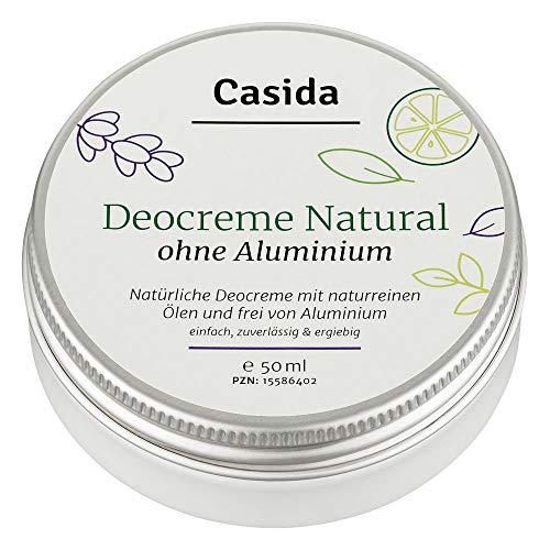 Deocreme ohne Aluminium Natural 50 ml - Natürliche Deocreme mit naturreinen Ölen und ohne Aluminium – Sicherer Schutz vor Schweißgeruch - Aus der Apotheke