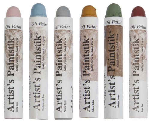 Jack Richeson Shiva Oil Paintstik, Traditional Colors, Set of 6