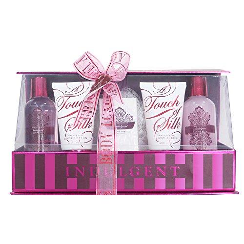 Gloss! Coffret de Bain Indulge Me Pink 6 Pièces Grenade, Coffret Cadeau-Coffret de bain