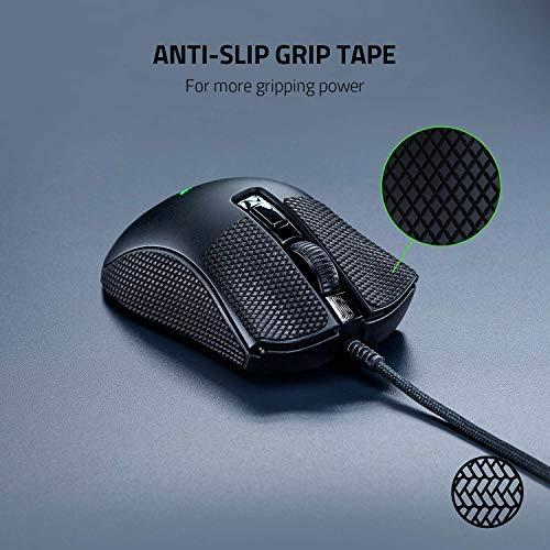 Razer Mouse Grip Tape für Razer DeathAdder V2 Mini (Rutschfest, Selbstklebend, Vorgeschnitten)