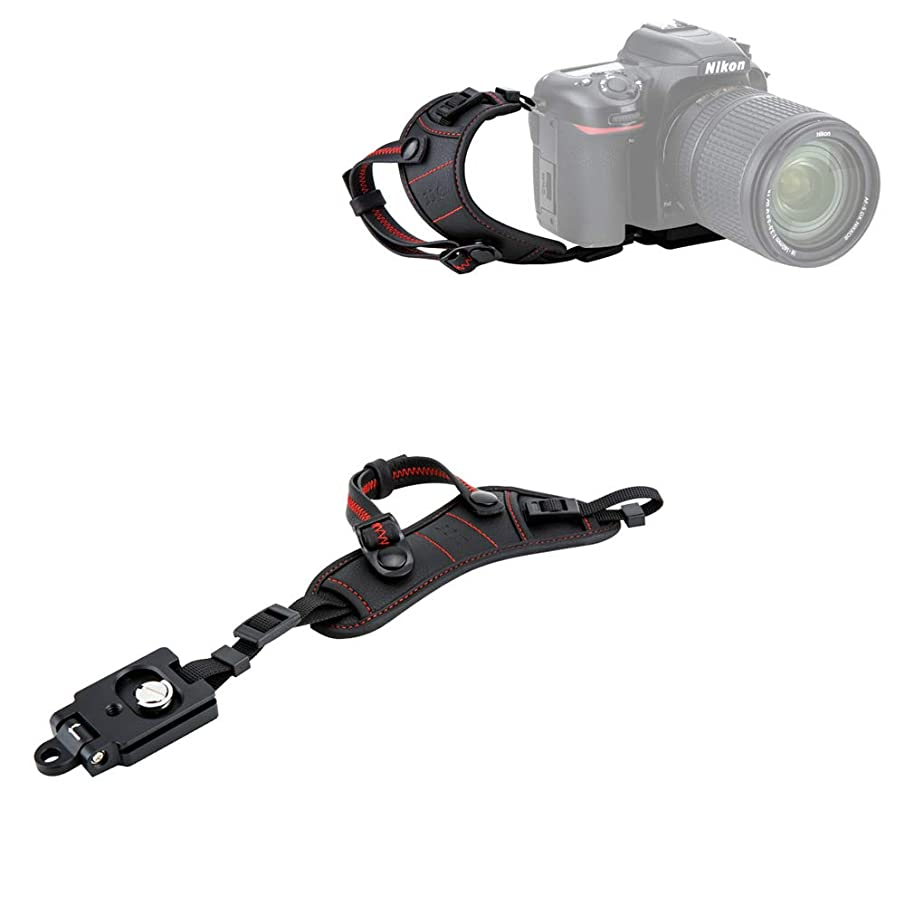 JJC Deluxe DSLR Camera Hand Strap with Quick Release Plate for Nikon D850 D750 D500 D7500 D7200 D7100 D3500 D3400 D3300 D3200 D5600 D5500 D5300 D5200 D810 D800 D600 D610 D5 D4s D4 D3s D3 & More DSLR