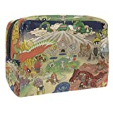 Cosmetic Bag, Makeup pouch Travel Makeup Bags 7.3''x3''x5.1'' Phantom Pokemon Collection Illustration