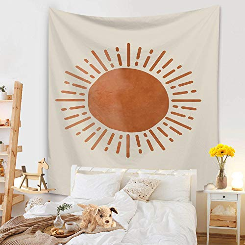 KHKJ Nuevo Tapiz de Hojas de Sol, cabecero de Pared, Colcha de Arte, Tapiz de Dormitorio para Sala de Estar, Dormitorio, decoración del hogar A9 95x73cm